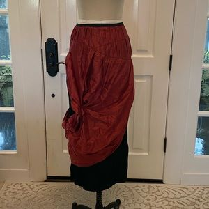 Cynthia Ashby maroon skirt